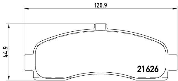Тормозные колодки дисковые MINTEX арт. P56 031