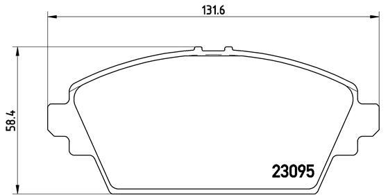Тормозные колодки дисковые MINTEX арт. P56 044