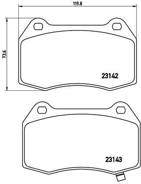 Тормозные колодки дисковые MINTEX арт. P56 047