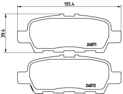 Тормозные колодки задние дисковые MINTEX арт. P56 068