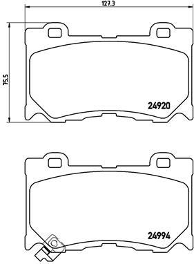 Тормозные колодки передние дисковые MINTEX арт. P56089