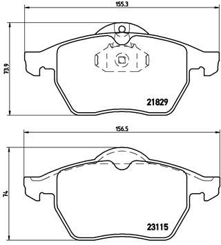Тормозные колодки дисковые MINTEX арт. P59 022