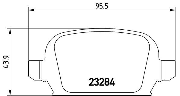 Тормозные колодки дисковые MINTEX арт. P59 037
