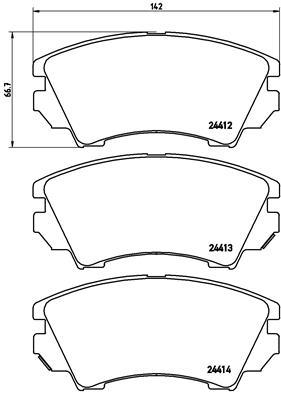 Тормозные колодки передние дисковые MINTEX арт. P 59 055