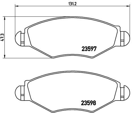 Тормозные колодки дисковые MINTEX арт. P61 063
