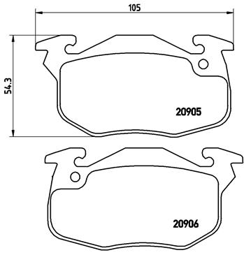 Тормозные колодки дисковые MINTEX арт. P61 097