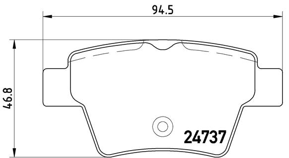 Тормозные колодки дисковые MINTEX арт. P61 100