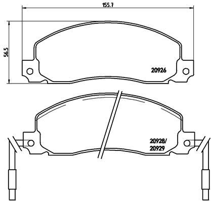Тормозные колодки дисковые MINTEX арт. P68 006