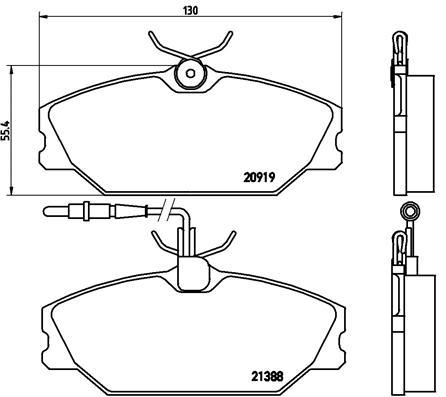 Тормозные колодки дисковые MINTEX арт. P68 014