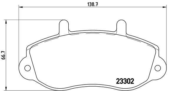 Тормозные колодки дисковые MINTEX арт. P68 025