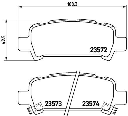 Тормозные колодки дисковые MINTEX арт. P78011