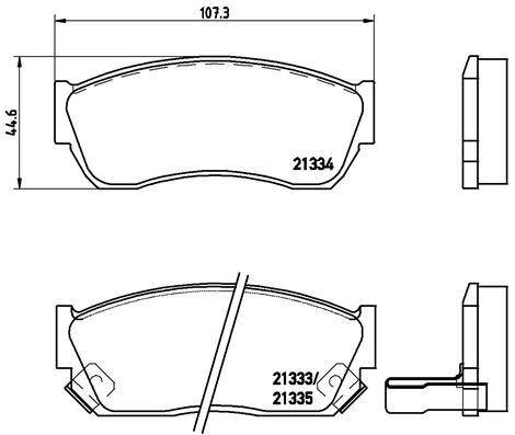 Тормозные колодки дисковые MINTEX арт. P79 005