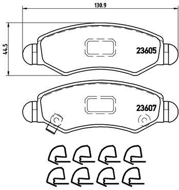 Тормозные колодки дисковые MINTEX арт. P79 015
