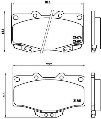 Тормозные колодки дисковые MINTEX арт. P83 009