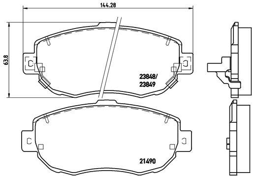 Тормозные колодки дисковые MINTEX арт. P83 037