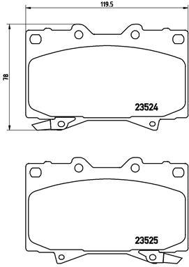 Тормозные колодки дисковые MINTEX арт. P83 048