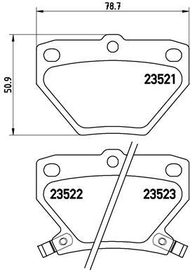Тормозные колодки дисковые MINTEX арт. P83 052