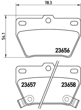 Тормозные колодки дисковые MINTEX арт. P83 057