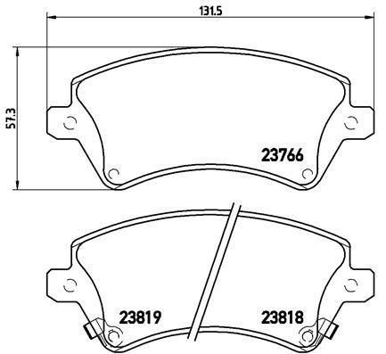 Тормозные колодки дисковые MINTEX арт. P83064