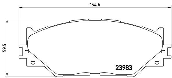 Тормозные колодки дисковые MINTEX арт. P83 074