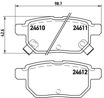 Тормозные колодки дисковые MINTEX арт. P83 083