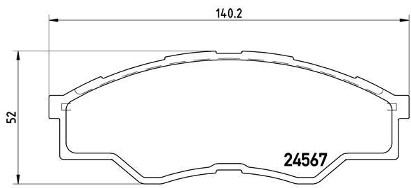 Тормозные колодки дисковые MINTEX арт. P83 096