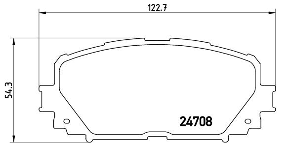 Тормозные колодки дисковые MINTEX арт. P83 101