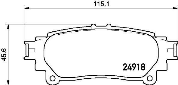 Тормозные колодки дисковые MINTEX арт. P83152