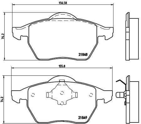 Тормозные колодки дисковые MINTEX арт. P85 039