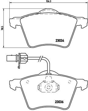 Тормозные колодки дисковые MINTEX арт. P85 052