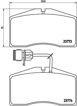 Тормозные колодки дисковые MINTEX арт. P85 053