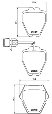 Тормозные колодки дисковые MINTEX арт. P85 054
