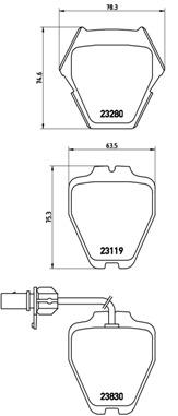 Тормозные колодки дисковые MINTEX арт. P85 067