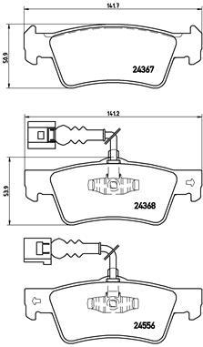 Тормозные колодки задние дисковые MINTEX арт. BM P85068