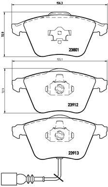Тормозные колодки передние дисковые MINTEX арт. BM P85079