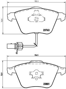 Тормозные колодки дисковые MINTEX арт. P85084