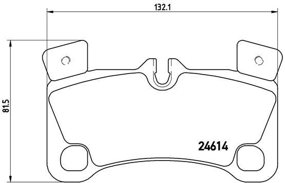 Тормозные колодки дисковые MINTEX арт. P85 103