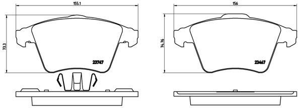 Тормозные колодки дисковые MINTEX арт. P85 106