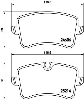 Тормозные колодки дисковые MINTEX арт. P85 120