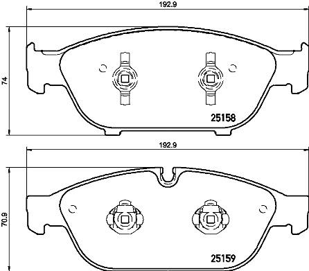 Тормозные колодки дисковые MINTEX арт. P85127