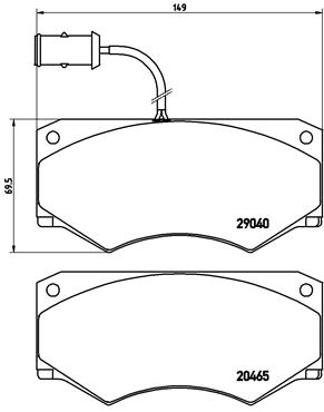 Тормозные колодки дисковые MINTEX арт. PA6 005