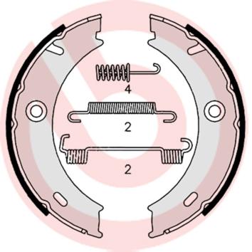 Колодки тормозные барабанные MINTEX арт. S50 512