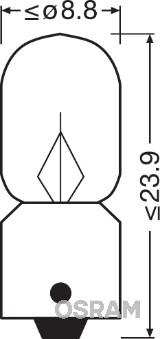 Лампа накаливания, oсвещение салона PHILIPS арт. 3796