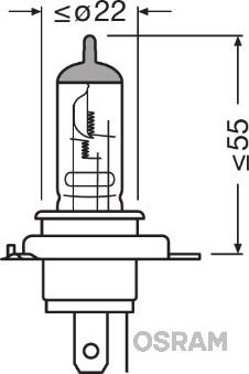 Лампа накаливания, основная фара  арт. 64185NR5