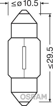 Лампа накаливания, oсвещение салона PHILIPS арт. 6438