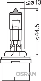 Лампа накаливания, основная фара PHILIPS арт. OS 880