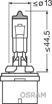 Лампа накаливания, основная фара PHILIPS арт. OS 881