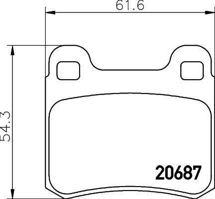 Тормозные колодки дисковые MINTEX MDB1560