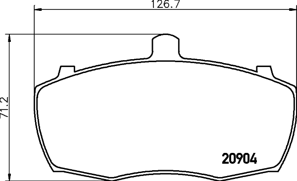 Тормозные колодки дисковые MINTEX MLB69