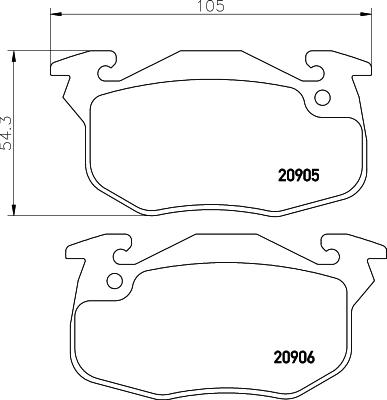 Тормозные колодки дисковые MINTEX MDB1807